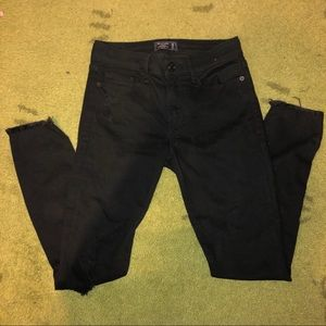 Black Ripped Skinny Jeggings